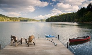 Cashiers house photo - Lakeside Cottage Has 180-degree Views of the Lake