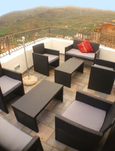 The Roof Terrace - A lounge outside, panoramic views.