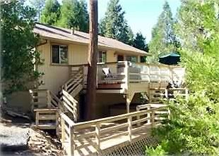 Secluded deck overlooking 1 acre property