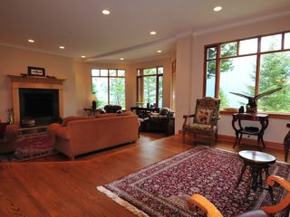 Canmore house photo - Great room, fireplace and unobstructed views