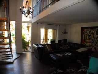 Old Town Scottsdale condo photo - Living room looking out front to deck