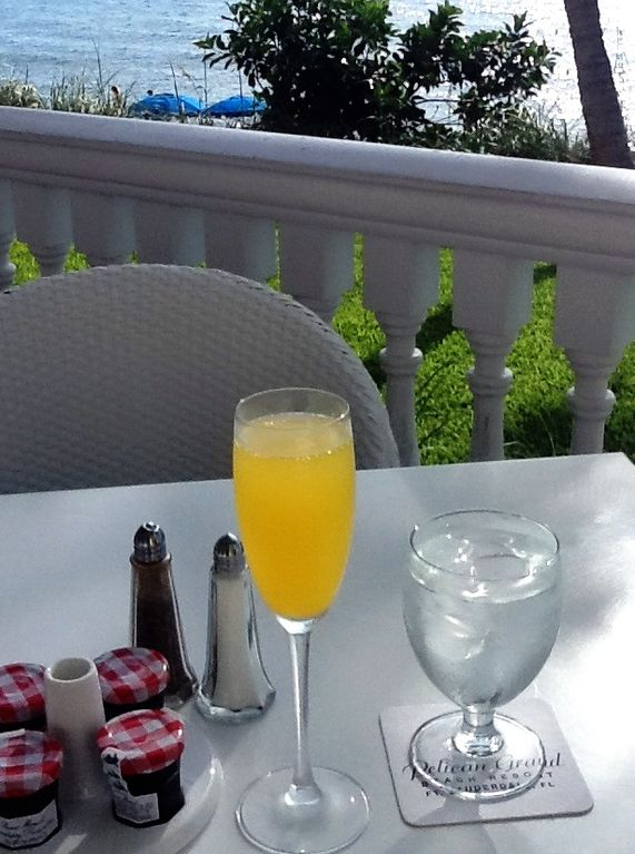 Enjoy breakfast, lunch and dinner with a beautiful view of the Atlantic ocean.