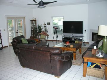 Great Room (partial view) - Perfect for entertaining large groups, w/ HDTV