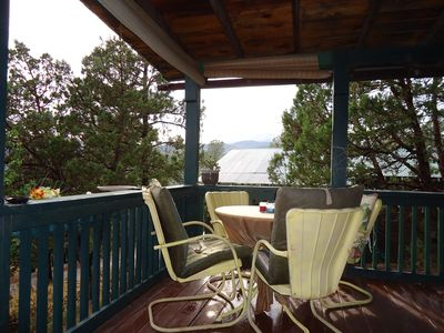 Ruidoso cabin rental - Deck view looking west