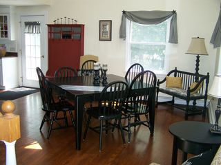 Orleans house photo - Dining Room - Table seats 8 right off kitchen, also working fireplace