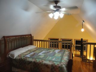 Cowen cabin photo - Queen Sized Bed on Loft with Ceiling Fan.