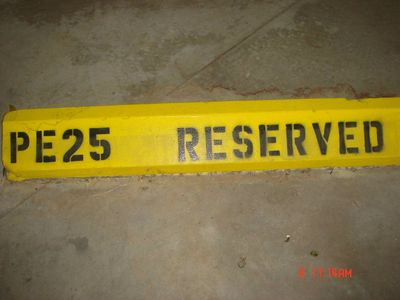 Covered reserved parking space