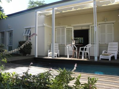 Franschhoek house rental - Pool Relaxing