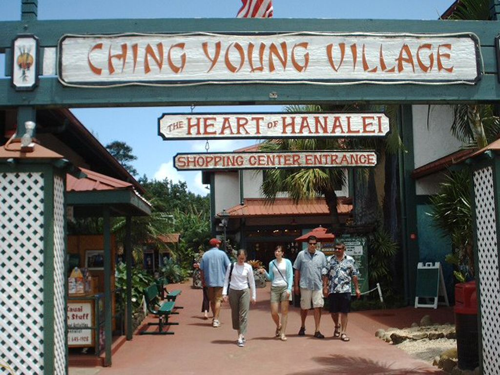 Shopping in the funky town of Hanalei