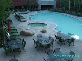 Stateline condo photo - ANOTHER VIEW OF THE POOL AND JACUZZI'S