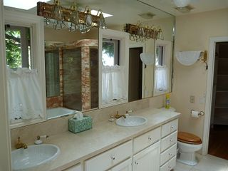 La Jolla house photo - Master bathroom vanities.