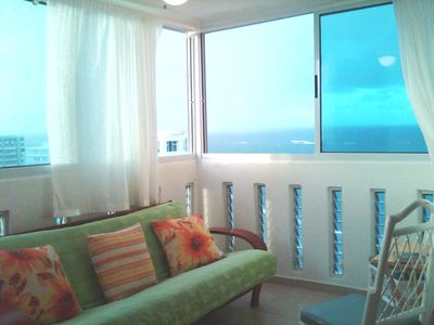 San Juan apartment rental - Living Room with Ocean View