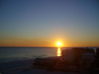 Mainsail Resort condo rental - Beautiful sunset from rear balcony