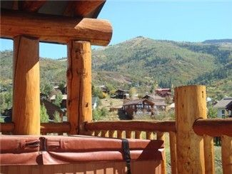 Private hot tub on your Deck with great mtn views