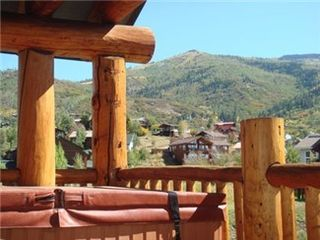 Steamboat Springs condo photo - Private hot tub on your Deck with great mtn views