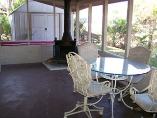 Weeki Wachee house photo - Screened back porch overloking water