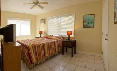 Our waterfront vacation rental is a 1 bedroom and 1 bathroom house