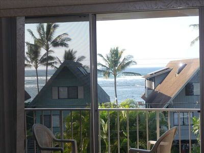 Ocean view from lanai and living room.