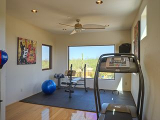 Scottsdale house photo - workout room located upstairs with gorgeous views of backyard and desert