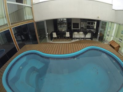 COVERAGE TRIPLEX 4 Suites 4 Garages with swimming pool, with spa, Internet, TV Just,