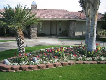 Palm Desert house rental - Beautifully landscaped Home Front View