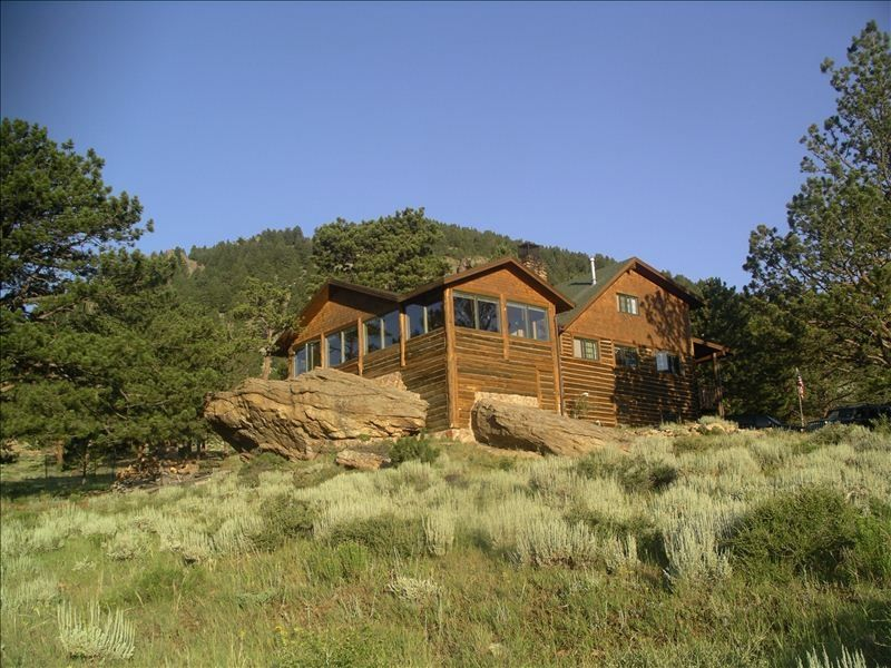 Authentic log cabin experience adjacent to vrbo for Cabine colorado vrbo