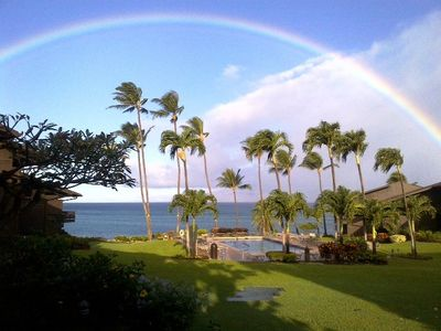 A picture perfect morning on the lana'i! (Picture donated by one of our guests)