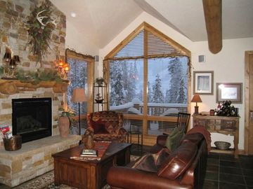 Winter Park townhome rental - Main Living Area - slopes in the distance.