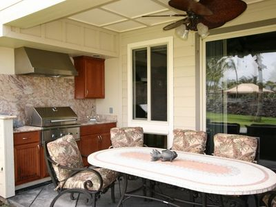 Sip a mai tai on your lanai with built-in Thermador gas BBQ and wet bar