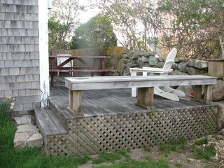 Chilmark cottage photo - Your own quiet, private & Secluded Deck