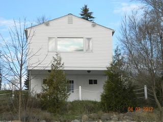 Port Sanilac cottage photo - Great view of Lake Huron. Walkout basement takes you right to sandy beach.