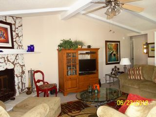 Thousand Palms house photo - Living room .. comfortable with TV, DVD, stereo, ceiling fan.