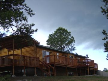 Wonderful 1100 Sq. Ft. Back Deck for Dining, Lounging, and Covered Hot Tub!