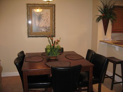 Dining Room table extends to seat 6 or more