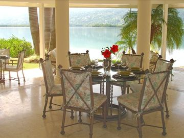 Dining on the Covered Lanai