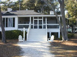 Daufuskie Island cottage photo - Oceanside with large screened porch. Reading, eating and napping