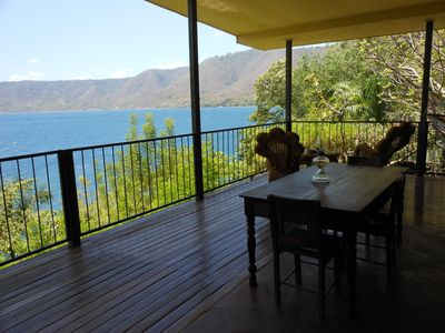 Villa Petra Deck and view of Laguna de Apoyo