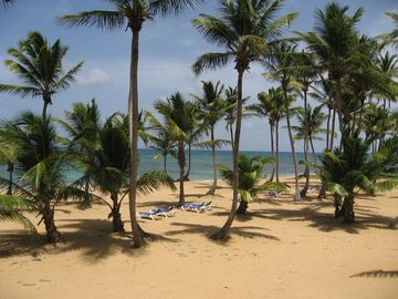Punta Cana condo rental - View of private beach from our balcony