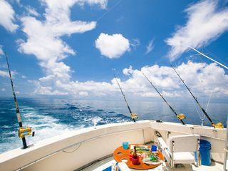 Fishing charters will pick you up steps from your door - Roatan villa vacation rental photo