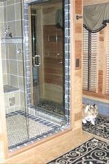Acton lodge photo - 7x7 Steam shower in luxurous bathroom.