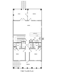 Crystal Beach house photo - 1st Floor Plan