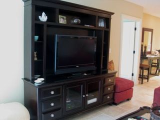 Living Room Entertainment Unit with plasma TV - Kiawah Island villa vacation rental photo