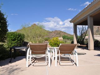 Scottsdale Troon house photo - Tranquil view looking west over the pool with beautiful mountains!