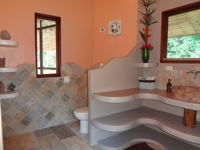 Uvita estate rental - Master Bedroom bathroom with double vanity.