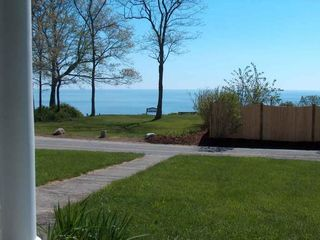 Plymouth house photo - View of Cape Cod Bay from the front porch