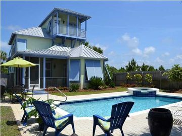 Seagrove Beach house rental - Private Pool &and SPA with privacy fence and pool alarms on all rear doors.