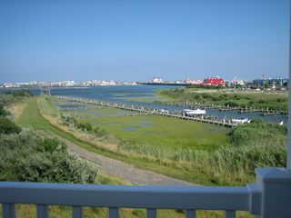 Vacation Homes in Ocean City townhome photo - 2nd Floor Deck overlooking Bay
