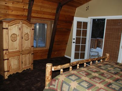 Big Bear Lake house rental - Alternate view of master, with private patio