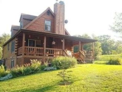 Four Bedroom Log Cabin -Jay Peak - Views - Private - Fireplace -
