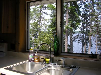 View of Lake from Kitchen